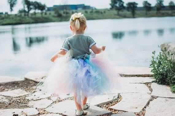 0d4a9ca6b ... POSH DREAM Pastel Unicorn Girls Tutu Skirt Colorful Easter Hi Low Tutu  Skirt for Photo Prop