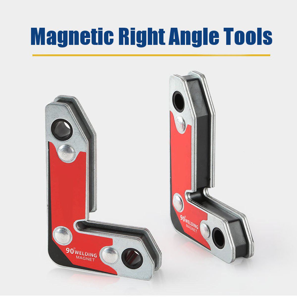 Magnetic 2PCS Right Angle Electric Welding Clamp Fixator Strong Corner Metal Frame Tools Kit Welding Soldering Iron Tool Parts
