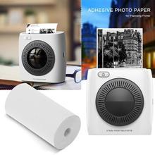 5 рулон 57x30 мм Термальность бумага для печати наклеек клей Фотобумага для Бумага, которые только начинают мини Карманный фотопринтер Бумага для кассового аппарата