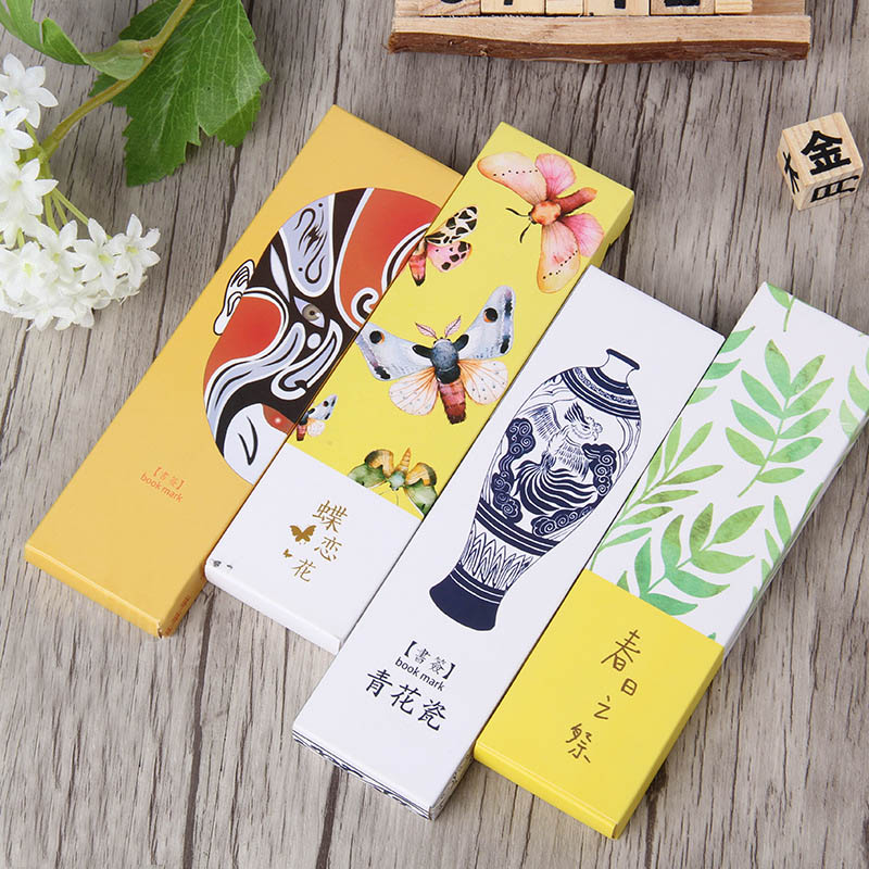 Cute Butterfly Book Marks Novelty Items Funny Paper Bookmarks For Kids Girl Gifts School Office Supplies 1 Bag Independent 30pcs/pack