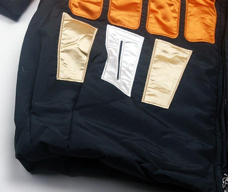 Femmes Long Hiver Manteau Matériel Matériel Unique Nouveau rembourré Filles Fonds Modèle Servir Black Coton 7n8qv4