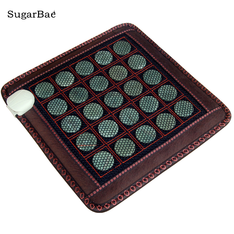 Health Care Products Jade Stone Massage Mat Electric Heated Seat Cushion for Pain Relief Free Shipping цены онлайн