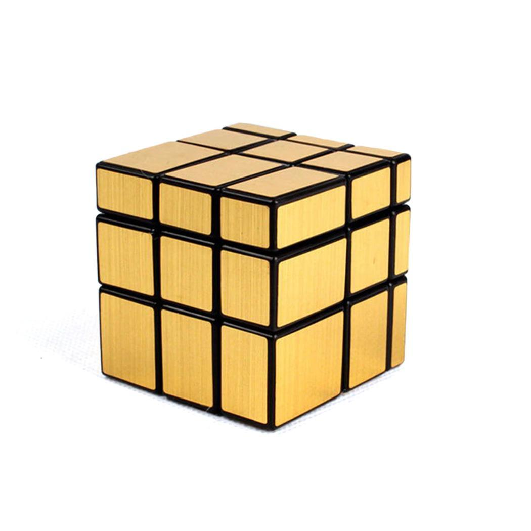 Golden Puzzle Toys 80g To Adopt Advanced Technology Home New Kids Children Mirror Surface Cube Over 7 Years Old Silver