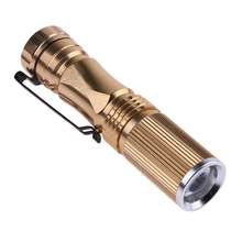 Mini Cree Q5 Senter LED Senter Saku Torch Portable Tahan Air Lantern Torch Teleskopik Zoomable Senter Bertenaga Baterai(China)