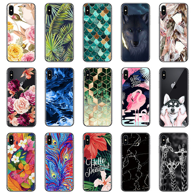US $2 24 10% OFF|Hot Sale Phone Case For Tecno L8 Lite S1 W1 W3 W5 WX3 Lite  WX3 Pro Camon X Art Painted Silicone Soft Case-in Fitted Cases from