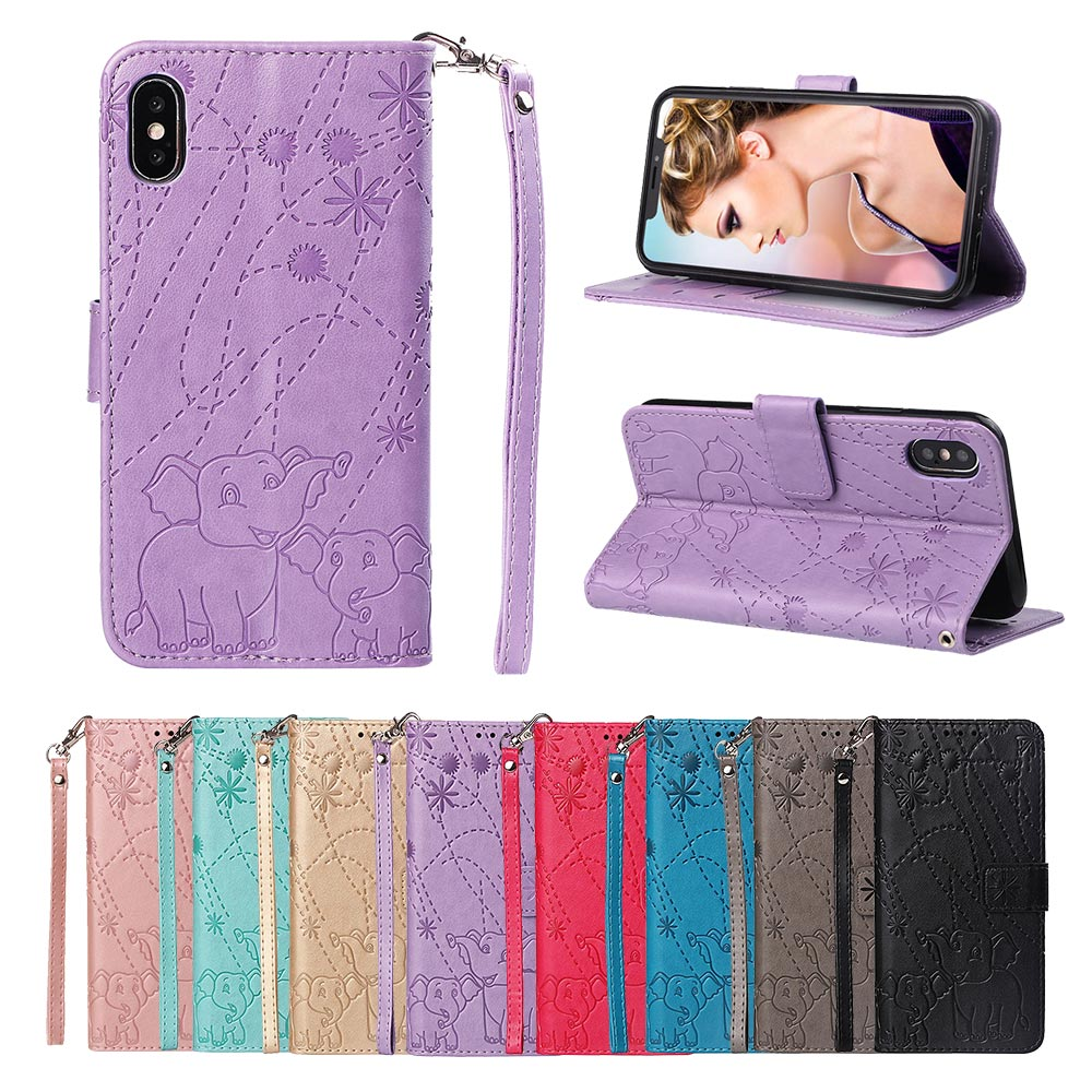 KISSCASE Flower Elephant Patterned Embossed Case For Huawei P30 P20 Pro Mate 10 20 Lite Y5 Y6 Y7 2018 Nova 3i 4 Honor 8X 8C Capa in Wallet Cases from Cellphones Telecommunications