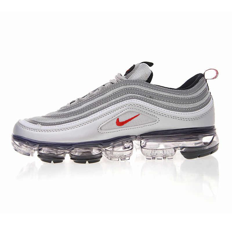 Nike ar vapormax 97 97 tênis de corrida masculino respirável almofada de ar ao ar livre esportes confortáveis # AJ7291-001/002