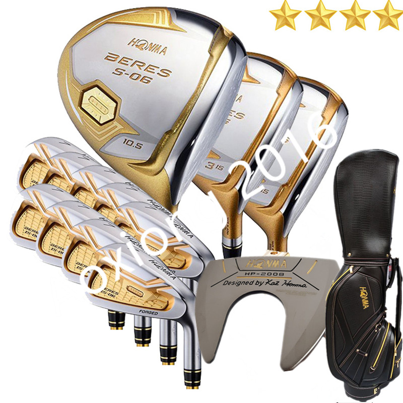 Kelab Golf Baru HONMA S-06 4star Compelete club set Driver + 3/5 fairway wood + iron + putter and graphite Golf auction Nobag