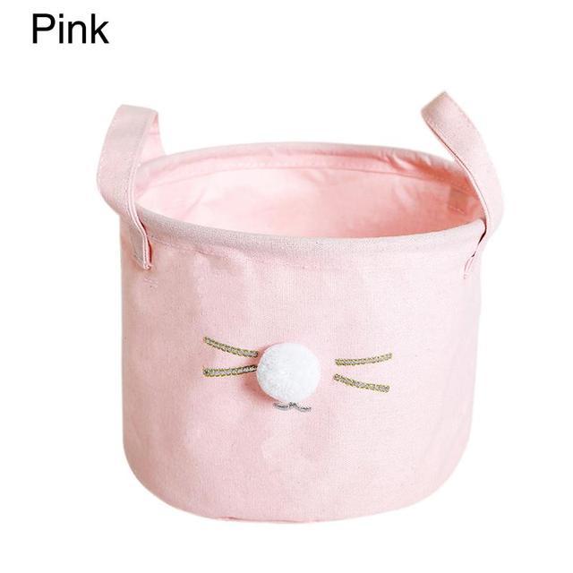 Brinquedo do Gato Bola de cabelo de Pano Caixa de Armazenamento Papelaria Handy Cesta de Armazenamento de Moda Casa Organizador Cozinha Casa de Banho Suprimentos