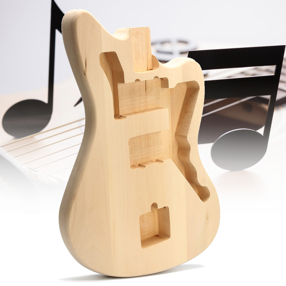 Bricolage Instrument de musique pièces de rechange de corps de guitare non fini Basswood corps de guitare électrique pour 6 cordes accessoires de guitares