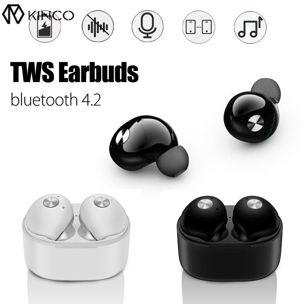 Bluetooth V4.2 sans fil TWS in-ear Mini vrais jumeaux stéréo basse écouteurs écouteurs casque casque micro mains libres appel téléphonique