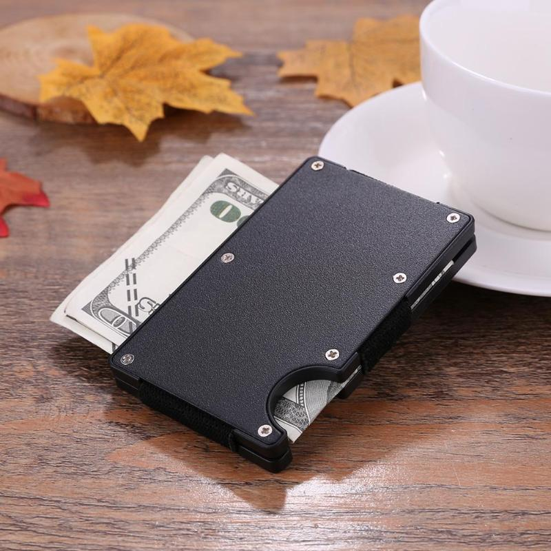 Portable Male Female Wallet And Purse Holders Metal Banknotes Clips Wallet Stainless Steel Card Cash Folders Money Paper Folders