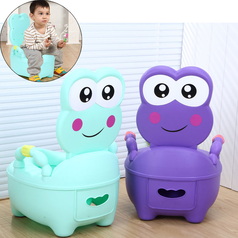 11.11 Frog Children's Potty Baby Pot Toilet Bowl Training Toilet Seat For Kids Portable Urinal  Backrest Bedpan