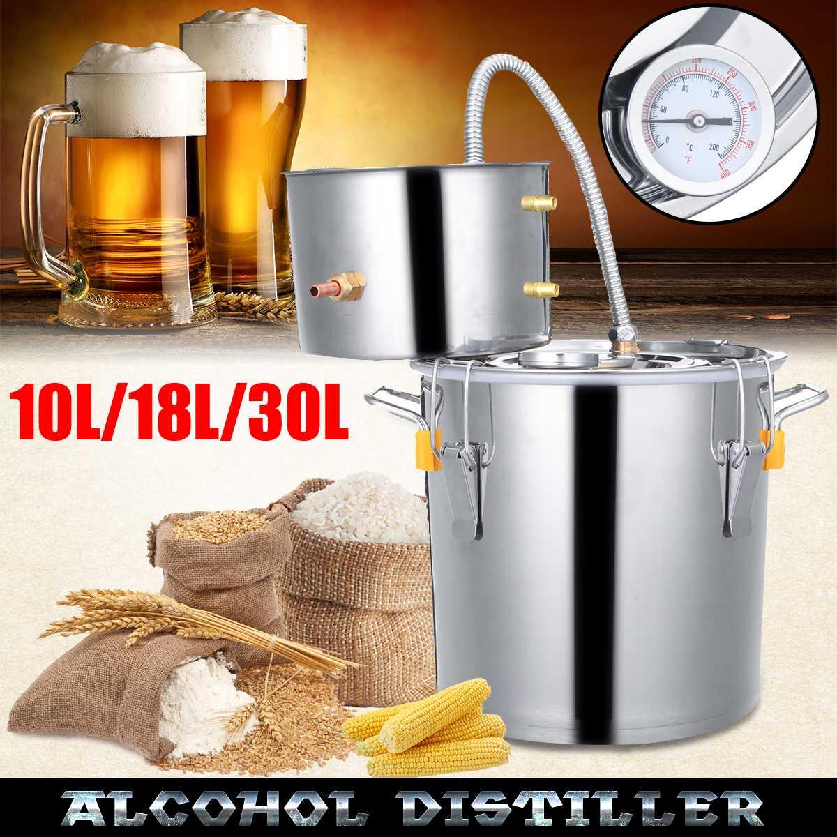 10L/18L/30L distillateur d'alcool vin bière alcool maison bricolage Kit de brassage maison distillateur inoxydable distillateur équipement accessoires