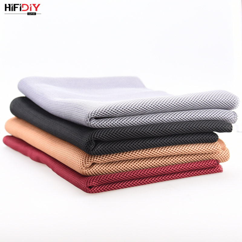 HIFIDIY LIVE Speaker Grill Cloth Stereo Fabric Gille Mesh Cloth Speaker Protective Accessories White Brown Silver Black 1.5*0.5 5