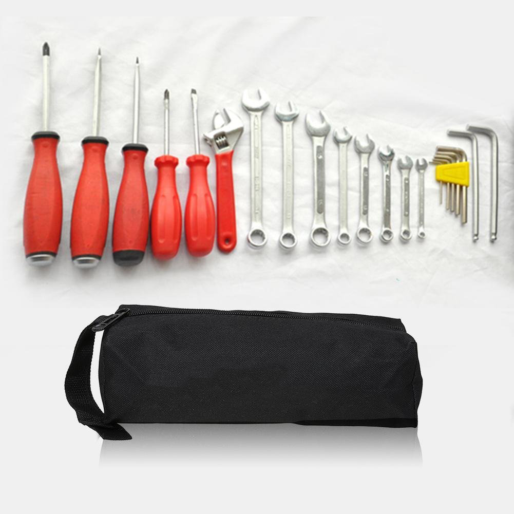 Hand Tool Bag Oxford Canvas Waterproof For Toolkit Screws Nails Drill Bit Metal Parts Storage Fishing Organizer Pouch Bag Case