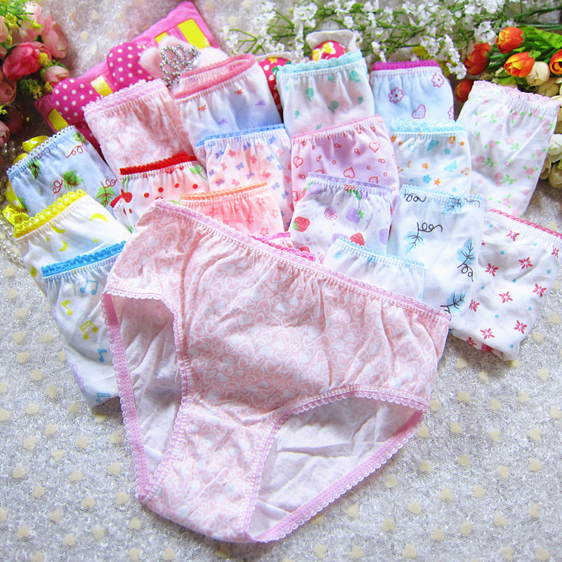 Cuecas Infantil Girls Underwear 2-10years Free Shipping Kids Briefs Wholesale Girl Panties Clothes For Children 6pcs/lot