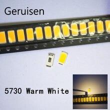 200 pces 5630 smd led 5730 branco quente baixo-mid power diodos 0.5 w 45-60lm cct: 4000-4500 k i (ma): 150ma chip frete grátis quente hite