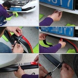 Image 5 - Samochód uniwersalny przedni spojler zderzaka z włókna węglowego gumowy Splitter podbródek Spoiler boczna dokładka gumowy Anti Scratch Protector Body Kit Trim