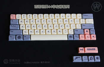 1 セット西世界人格キーキャップ染料昇華 Pbt メカニカルキーボードのキーキャップ Varmilo 68 660 メートル