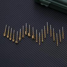 20 шт./компл. дерево роторное фрезерование набор режущих инструментов HSS титановое покрытие маршрутизатор фрезерования шлифовальные буровые насадки скорость Набор для Dremel инструмент