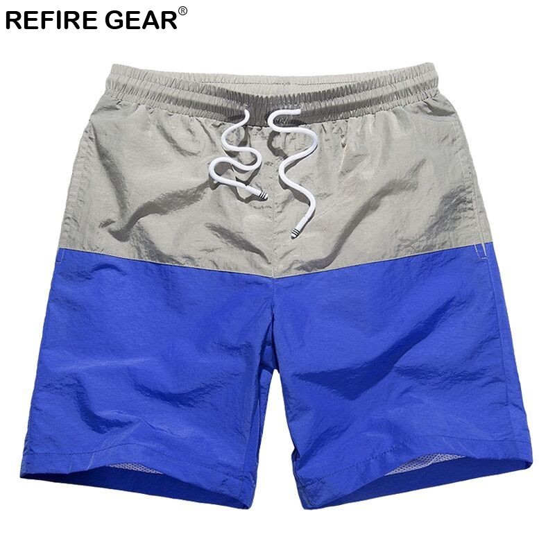 Refire Gear Summer Quick Dry Breathable   Shorts   Men Outdoor Sports Beach Swimwear Surfing Hiking Running Male   Board     Shorts