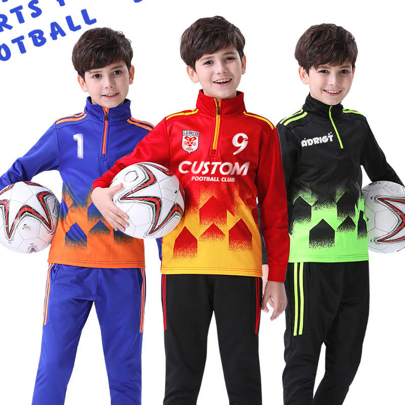Children Sports Tracksuit for Boy Sweatshirt Running Jogging Suit Sportswear Training Soccer Basketball Jersey Warm Outdoor Coat