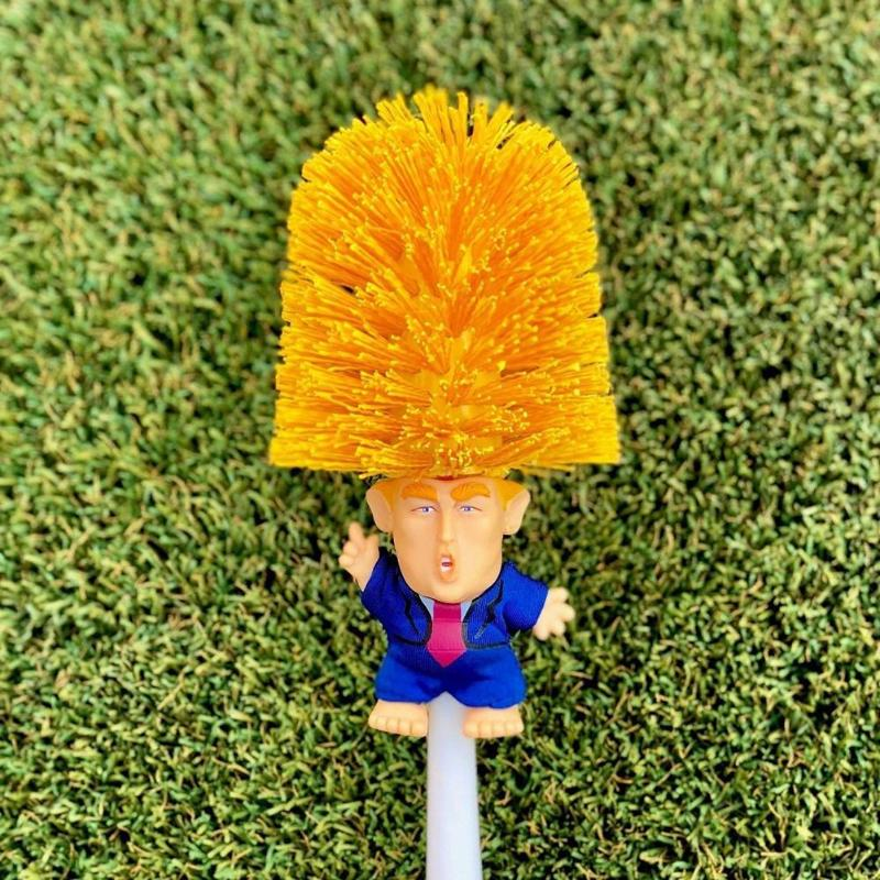 Toilet Brush Holders WC Donald Trump Random Style Original Trump Toilet Brush Make Your Toilet Great Again Dropshipping