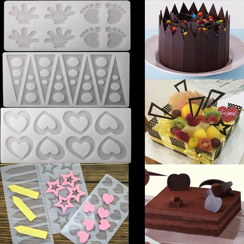 23 모양 diy 실리콘 초콜릿 퐁당 사탕 금형 케이크 장식 도구 홈 수제 케이크 퐁당 금형