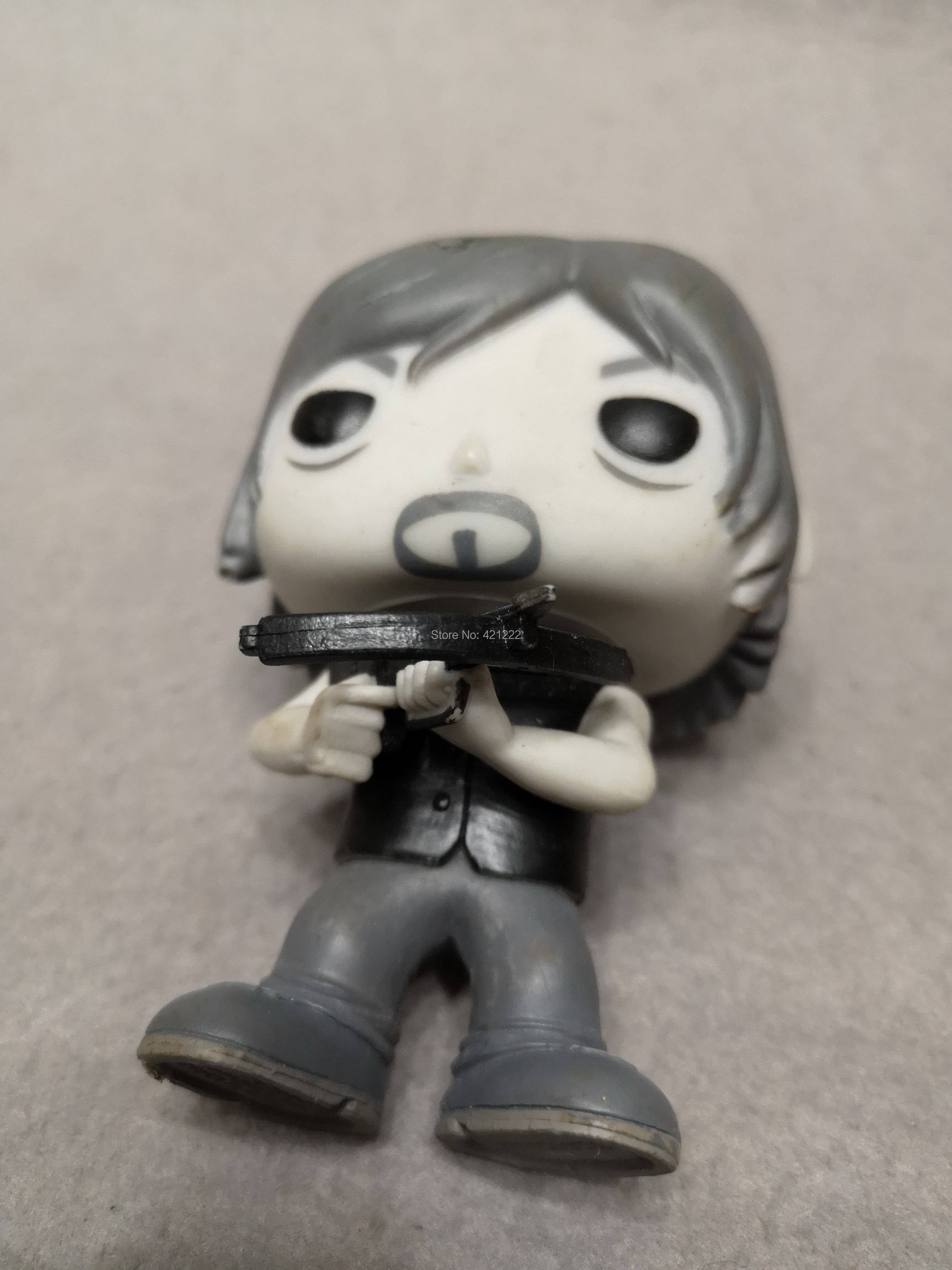 56f9ff7d575 NO BOX ORIGINAL FUNKO POP Television The Walking Dead DARYL DIXON  145  Walmart Exclusive BLACK   WHITE Vinyl Figure Action-in Action   Toy Figures  from Toys ...