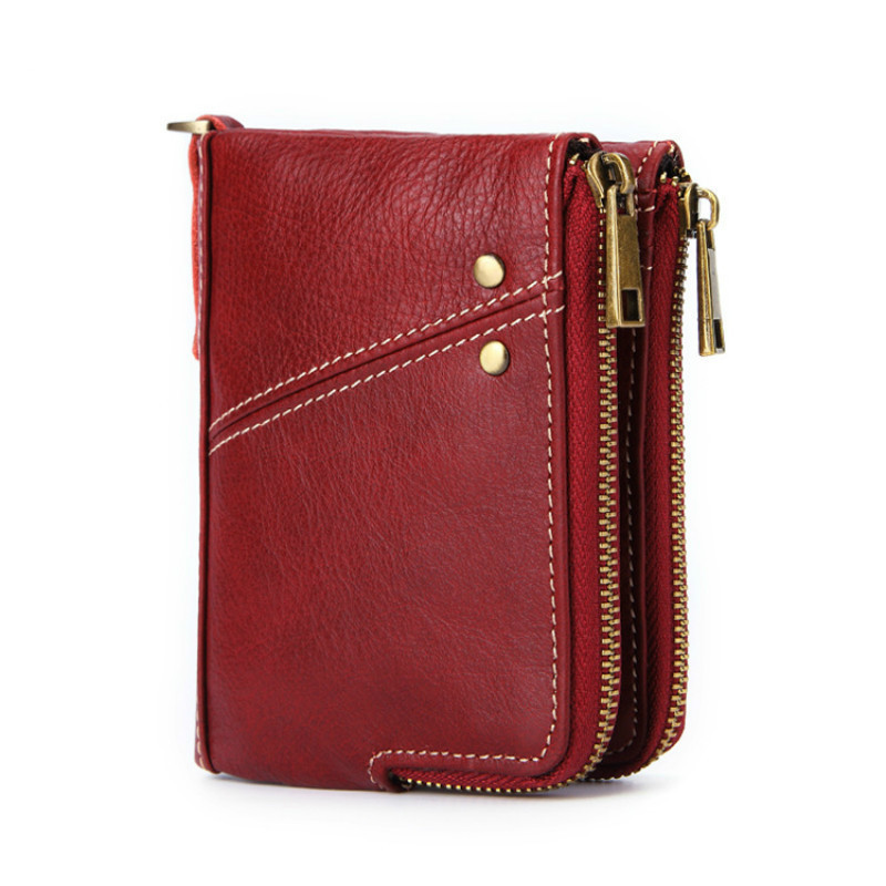 Fashion Small Women Wallet Female PursesLeather Short Ladies Wallet Double Zipper Coin Purse Zipper Clutch Bags Cartera Mujer