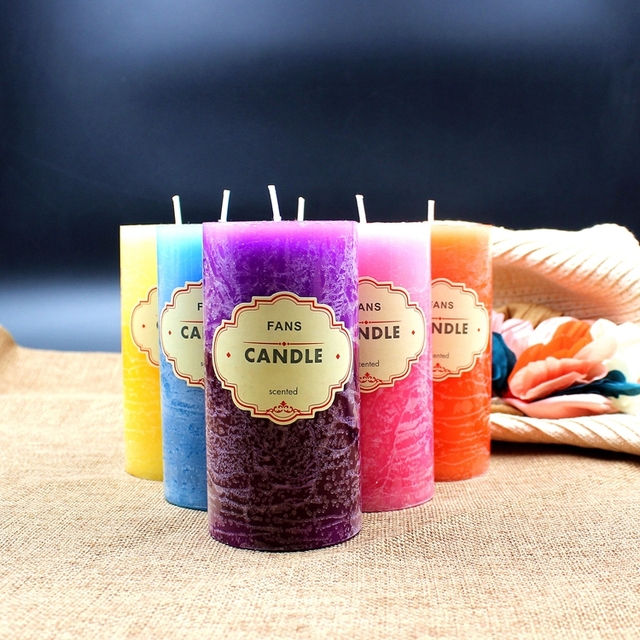 Scented Candle Crafts Column Paraffin Smokeless Scented Candles Fragrant Decorative for Party Home Decor 1