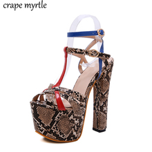 bohemian Sandals summer big size shoes woman high heels leopard sandals fashion buckle thick women platform sandals YMA786 asumer black apricot rose red fashion summer ladies shoes buckle thick platform prom shoes women high heels sandals