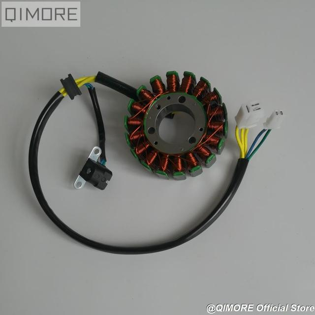 Магнитный статор 93 мм с пикапом для скутера Majesty YP250 Linhai AEOLUS VOG 250 257 260 LH170MM xingyΦ