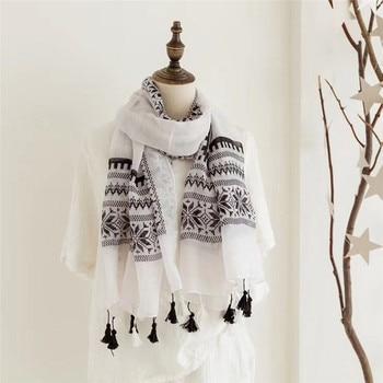 brand Winter women scarves soft long print scarves lady Vintage Shawl Fashion Lace Scarves