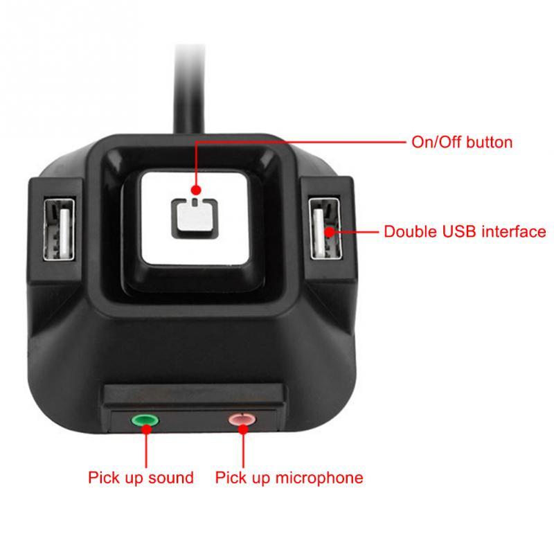 Audio Mic ports Desktop PC Case Switch Power on//off Button W// Dual USB Ports