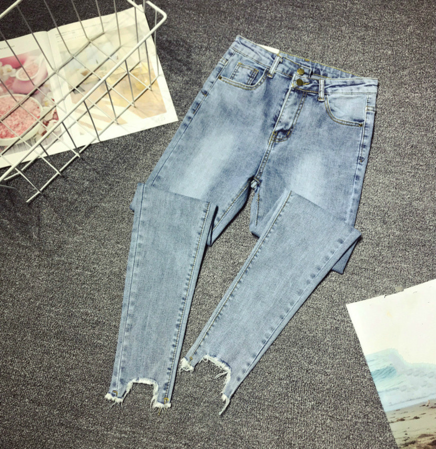 Women Denim Pants 2020 New Fashion High Waist Stretch Ripped Skinny Jeans Woman Slim Pencil Jeans Trousers Plus Size 5XL