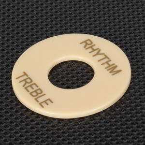 Durable Cream Rhythm Treble Switch Plate Part For Les Paul Guitar ABS Part Rhythm Treble Switch Plate Guitar Cream