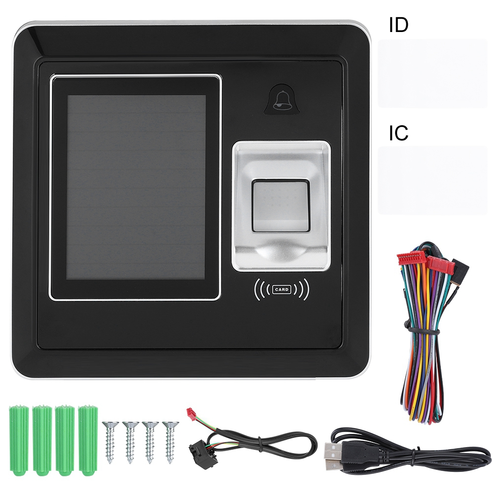 US $49 21 32% OFF|125Khz Biometric Fingerprint Time Attendance System  Employee Time Clock Access Control-in Electric Attendance from Security &