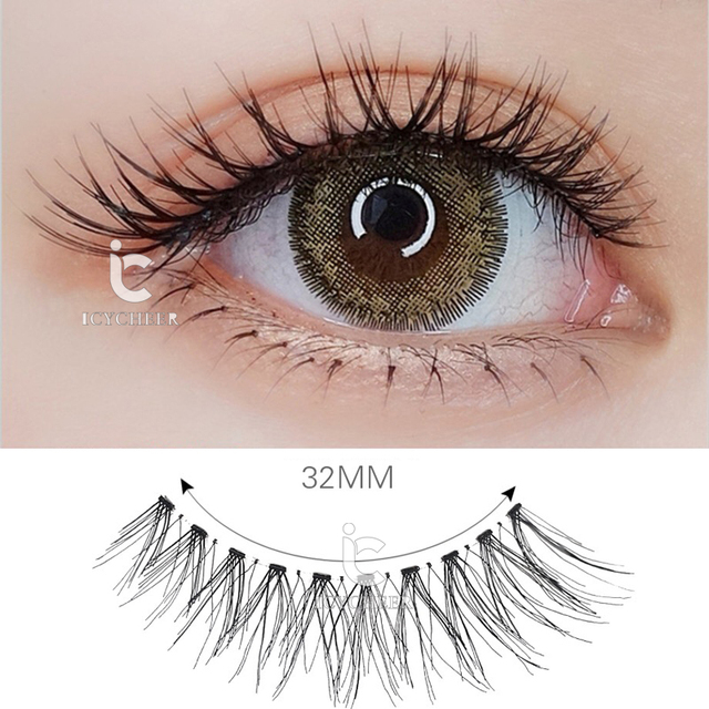 ICYCHEER 10Pairs Mink Hair False Eyelashes Natural/Thick Long Eye Lashes Wispy Makeup Messy Winged Extension Tools Wimpers 2