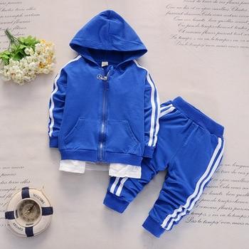 2019 Spring Baby Casual Tracksuit Children Boy Girl Cotton Zipper Jacket Pants 2Pcs/Sets Kids Leisure Sport Suit Infant Clothing 2
