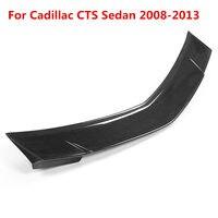 For Cadillac CTS Sedan 2008 2013 Car Real Carbon Fiber Rear Trunk Spoiler Lid Wing Rear Wing Spoiler Rear Trunk Roof Wing
