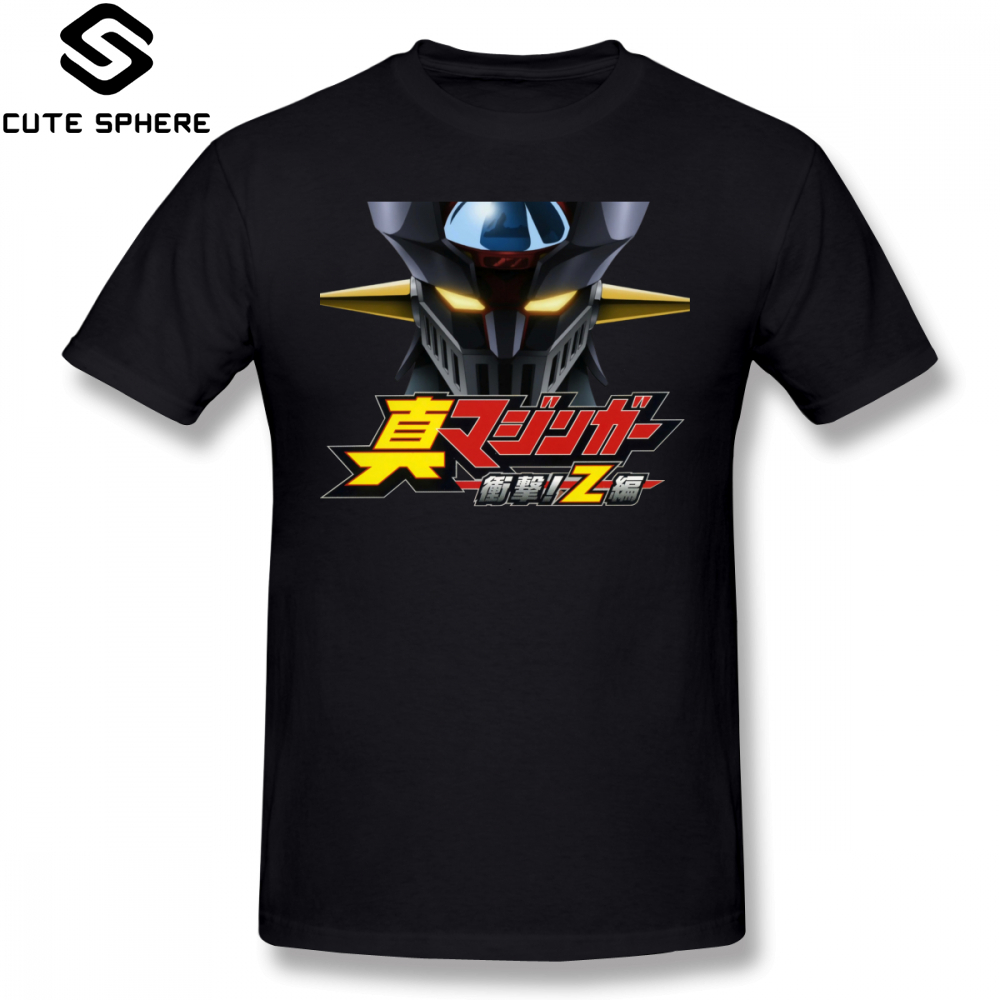 Mazinger Z T Shirt Shin Anime Cartoon T-Shirt Cotton Short Sleeve Tee Shirt  Men Fun Basic Oversize Printed Tshirt d3af001c2a41