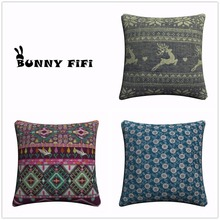 New Year Buck Flower Bird Decorative Pillow Covers For Sofa Home Decor Linen Cushion Case 45x45cm Throw Pillow Cases new year buck flower bird decorative pillow covers for sofa home decor linen cushion case 45x45cm throw pillow cases