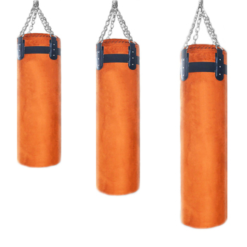 80/100/120cm High Quality Thickened Leather Sandbag Suede Hook Hanging Punching Bag Kicking Muay Thai Train Boxing Sand Bags