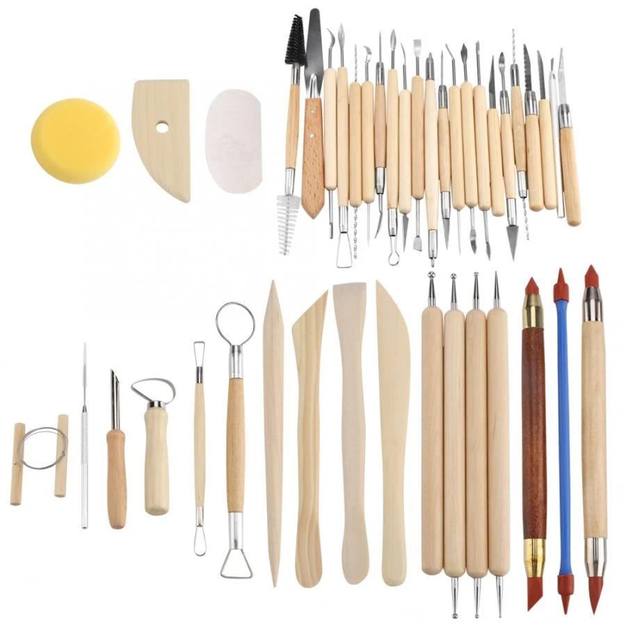 42 قطعة مجموعة أدوات صناعة الفخار الخزفية نحت الطين والنحت مجموعة أدوات جديدة أدوات الفخار والخزف Aliexpress