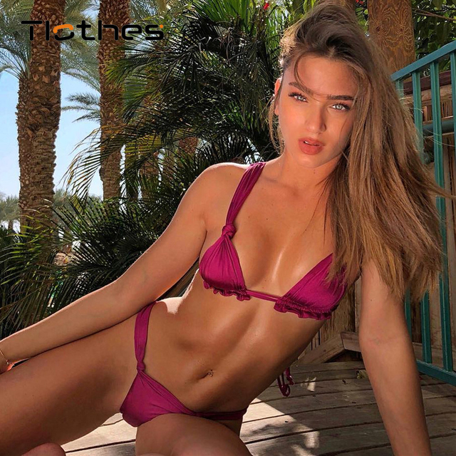 b032c768c6 Sexy Micro Bikini Women Swimsuit 2019 Swimwear Womens Push Up Thong String  Bikini Bathing Suit Microkini