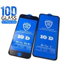 GVU 10D Защитное стекло для экрана для iPhone 7 6 6s 8 Plus полное покрытие защитное закаленное стекло на iPhone X XR XS Max пленка