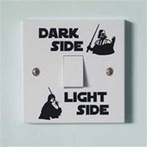 Cuộc Chiến Tranh sao Ánh Sáng Tối Bên Chuyển Đổi Chuyển Đổi Bảng Điều Khiển Dán Vinyl Decal Sticker Phòng Trẻ Em Lightswitch Tường