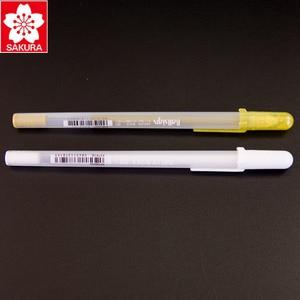 Image 2 - 12 ピース/ロットさくらホワイトゴールドゼリーロール水ベース 0.7 ミリメートル XPGB #50 ゲルペン日本製